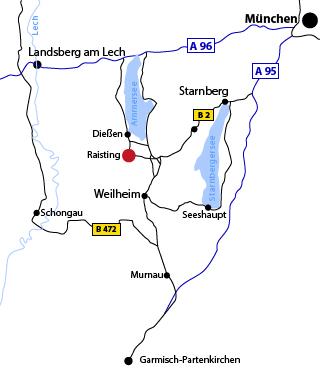 Lageplan Naturbau Ammersee